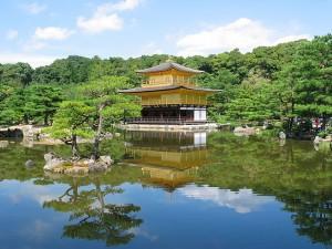 Templo Kinkakuji en Kioto.