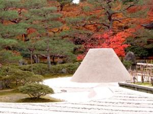Jardín zen del templo Gingaku en Kioto