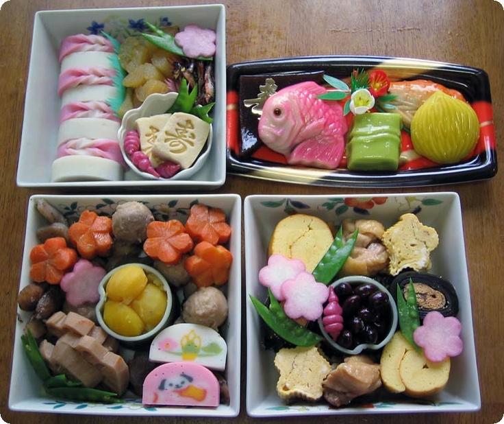 Comida japonesa típica de Año Nuevo