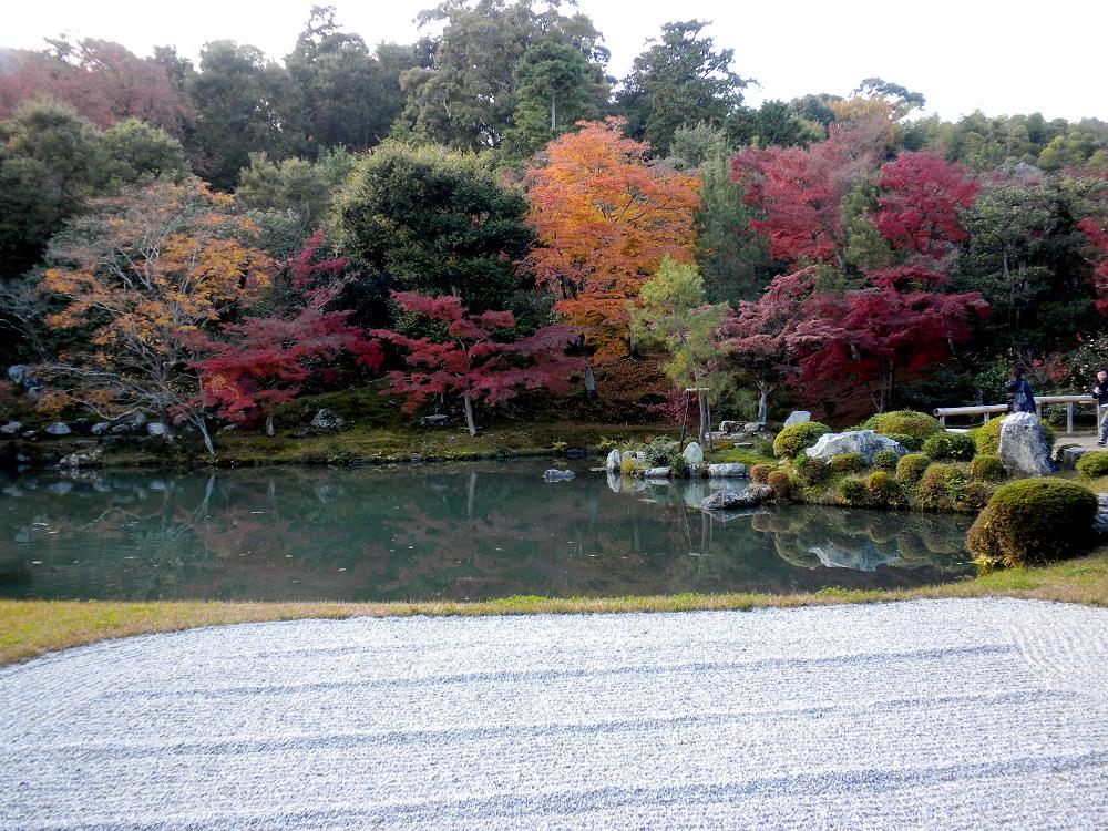 imagen del jardin de piedras zen del Templo de Tenryu-ji