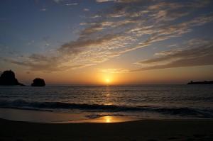 Atardecer desde la costa Okinawa