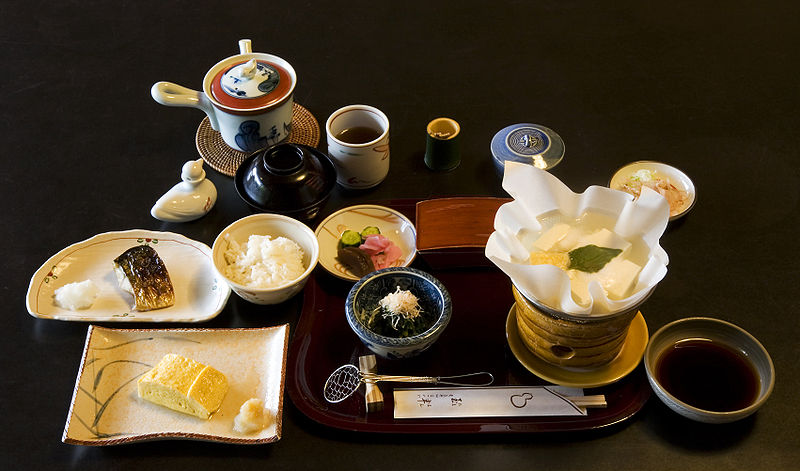 Comida kaiseki en un ryokan